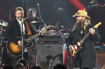 Justin Timberlake & Chris Stapleton Perform at the 49th Annual CMA Awards