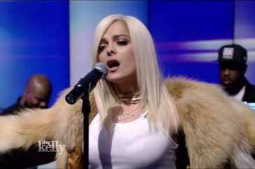 Bebe Rexha Performs on Live w/ Kelly